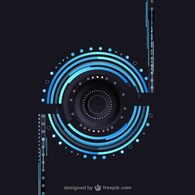 Technological lens Free Vector