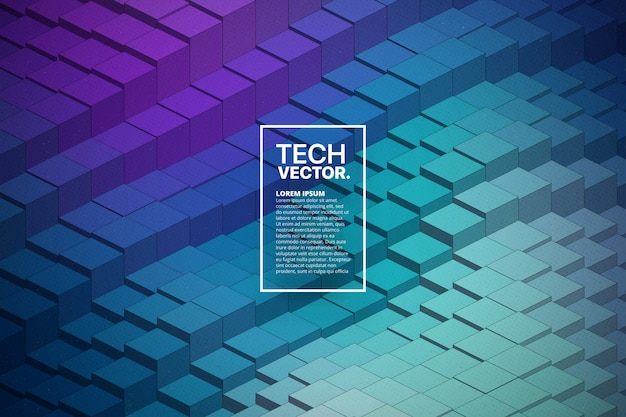 Technology 3d waveform abstract vector background Premium Vector