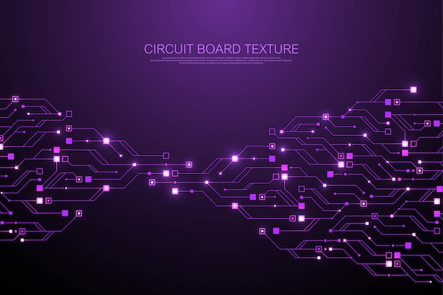 Technology abstract circuit board texture background. high-tech futuristic circuit board Premium Vector