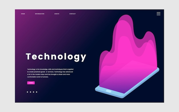 Technology and IT informational website\ graphic