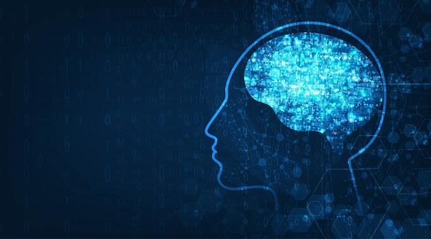 Технология искусственного интеллекта фона Premium векторы