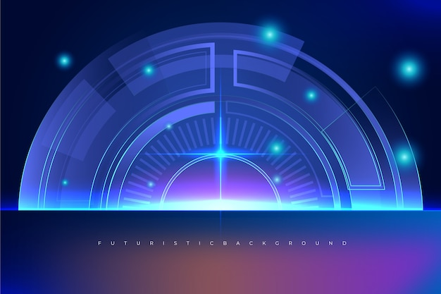 Technology background concept Free Vector