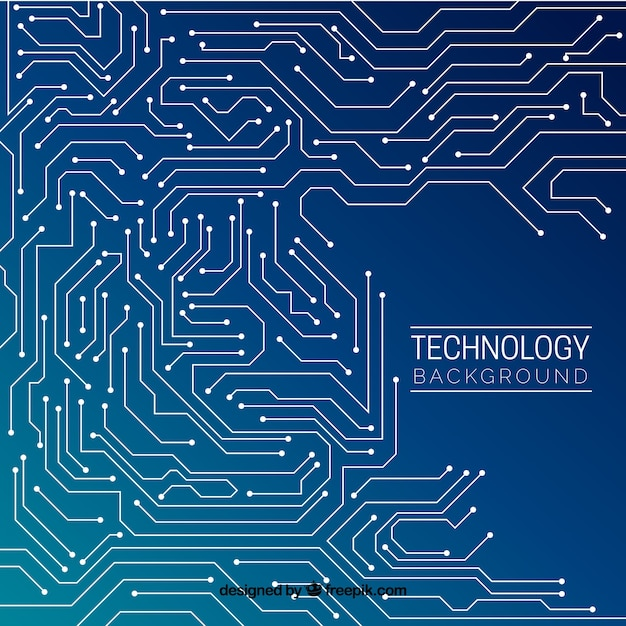 Technology background design Free Vector