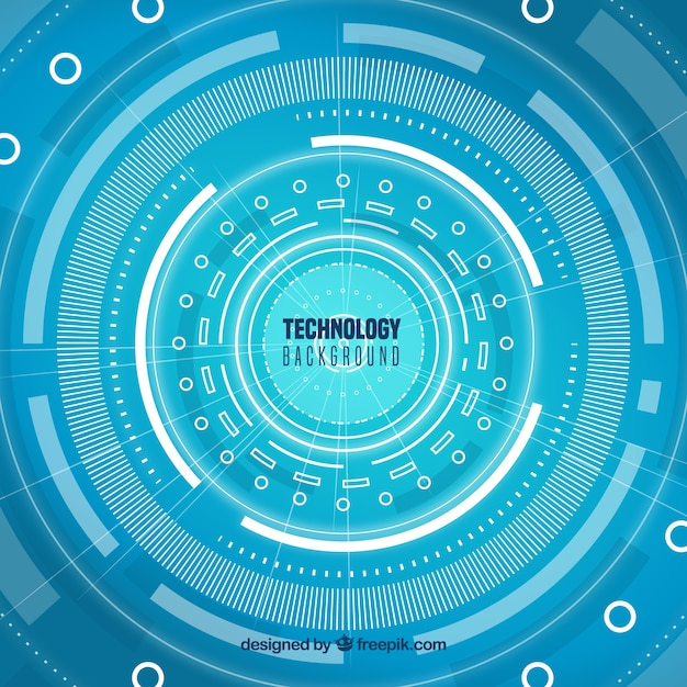 Technology background in abstract style Free Vector