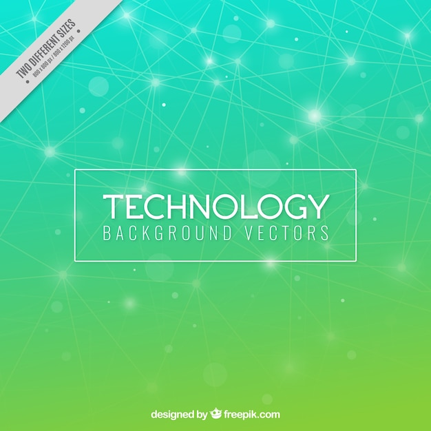 Technology background in green tones