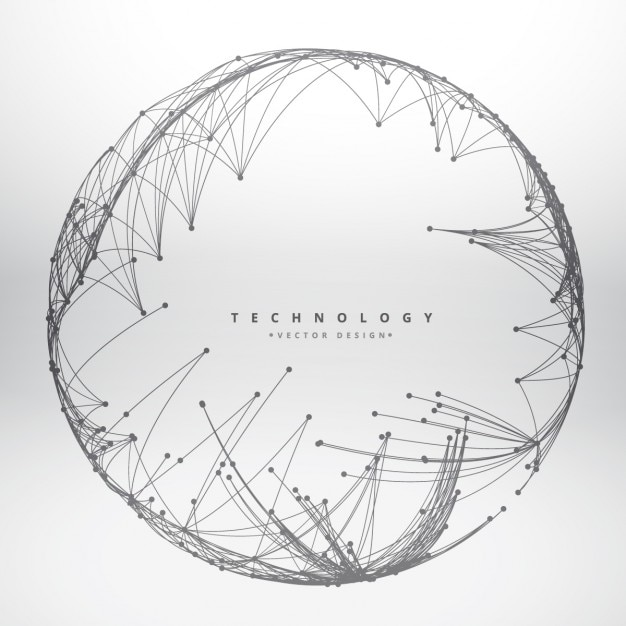 Technology background made with circular\ mesh