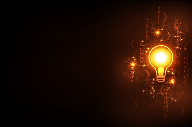 Technology background vector in creative style. Premium Vector
