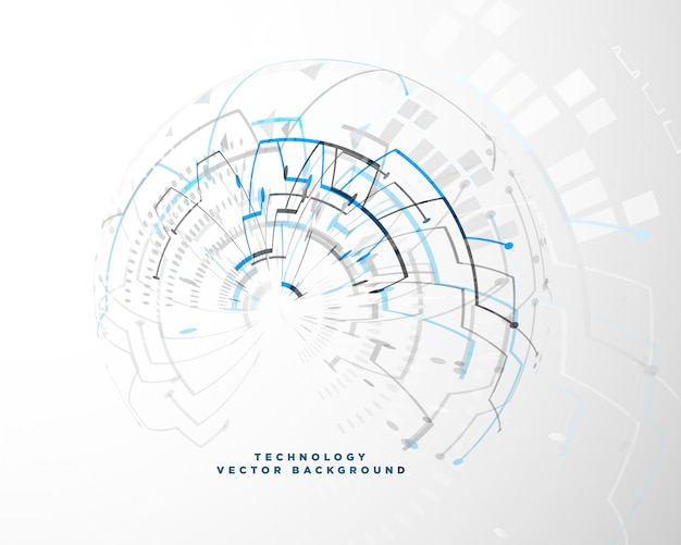 Technology background with abstract wire mesh Free Vector