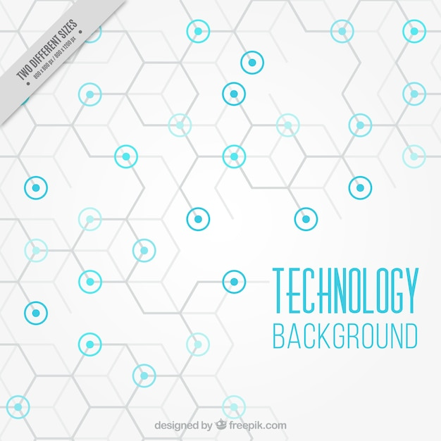 Technology background with blue circles Vector | Free Download