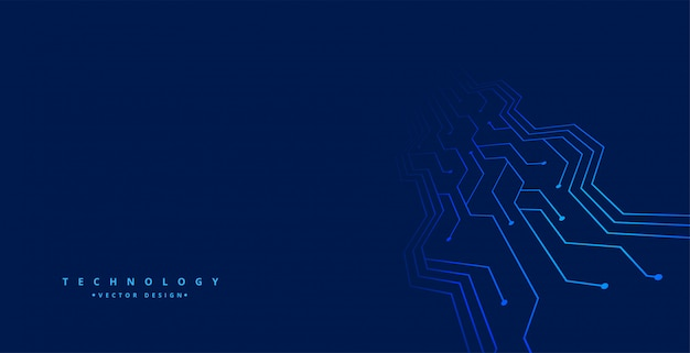 Technology background with circuit board lines Free Vector
