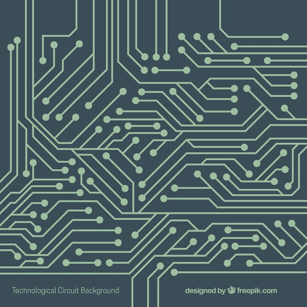 Technology background with circuit Vector | Free Download