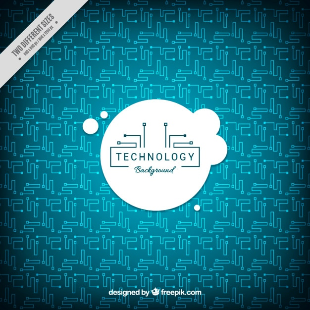 Technology background with circuits in flat\ design