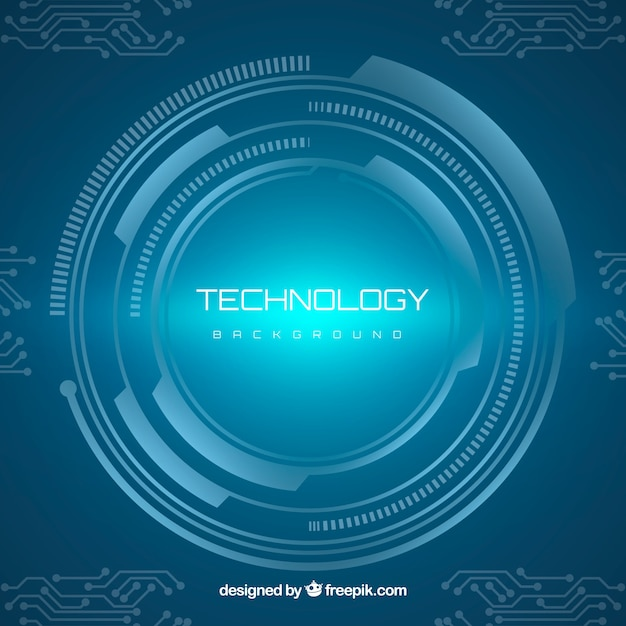 Technology background with circular style