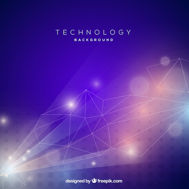 Technology background with colorful style