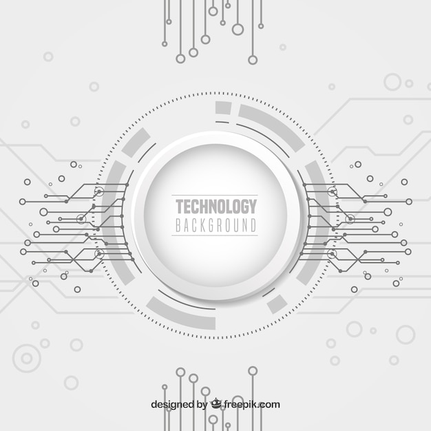 Technology background with dots ans lines Free Vector