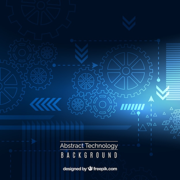 Technology background with dots ans\ lines
