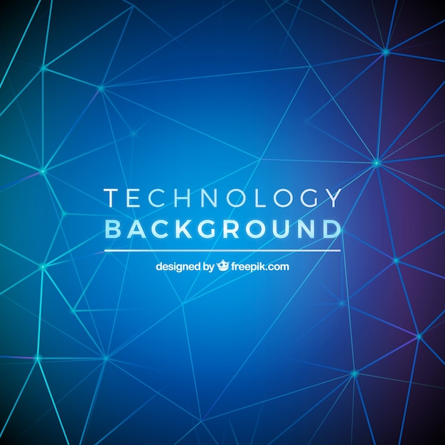 Technology background with geometry