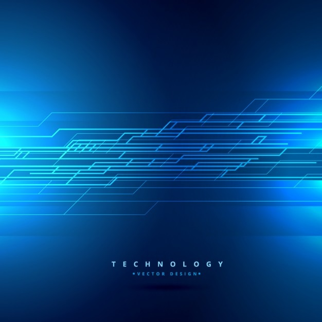 Technology background with lines