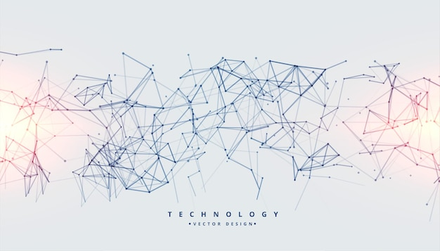 Technology background with low poly digital connection lines Free Vector