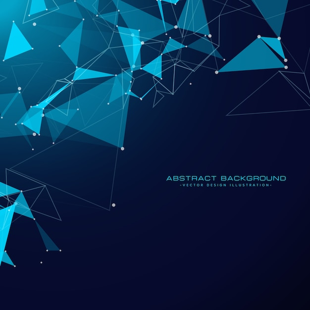 Technology background with triangle shapes Free Vector