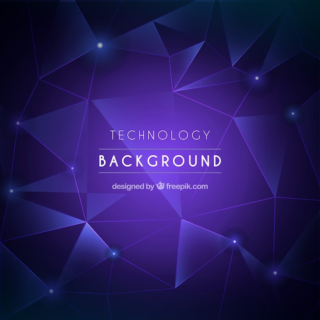 Technology background with triangles
