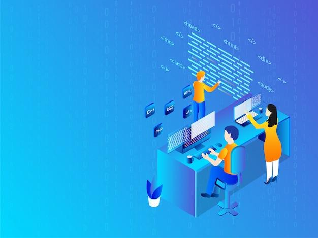 Technology background. Premium Vector