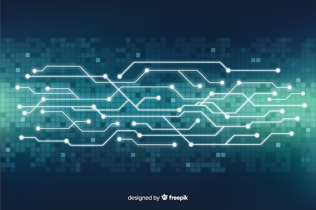 Technology background Premium Vector