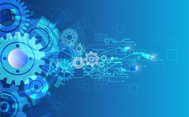 Technology background Premium Vector