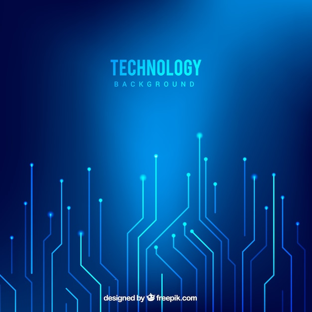 Technology blue background