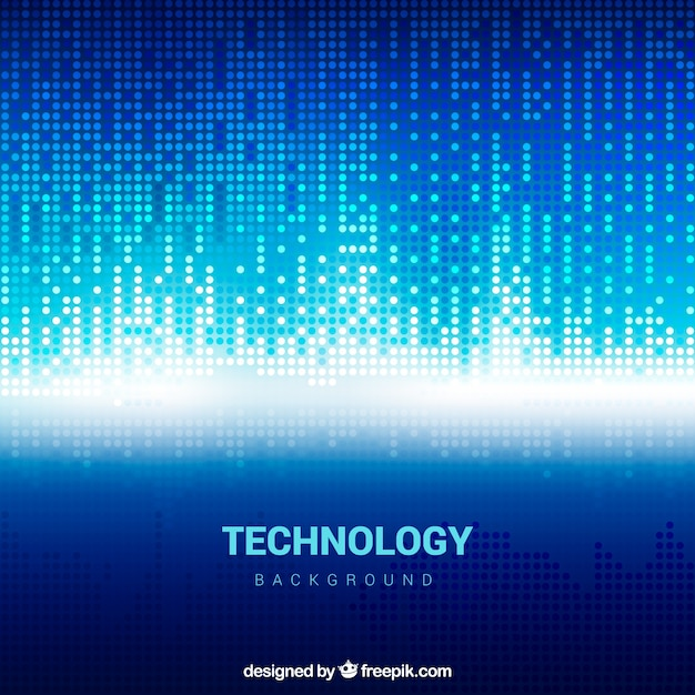 Technology blue shiny background