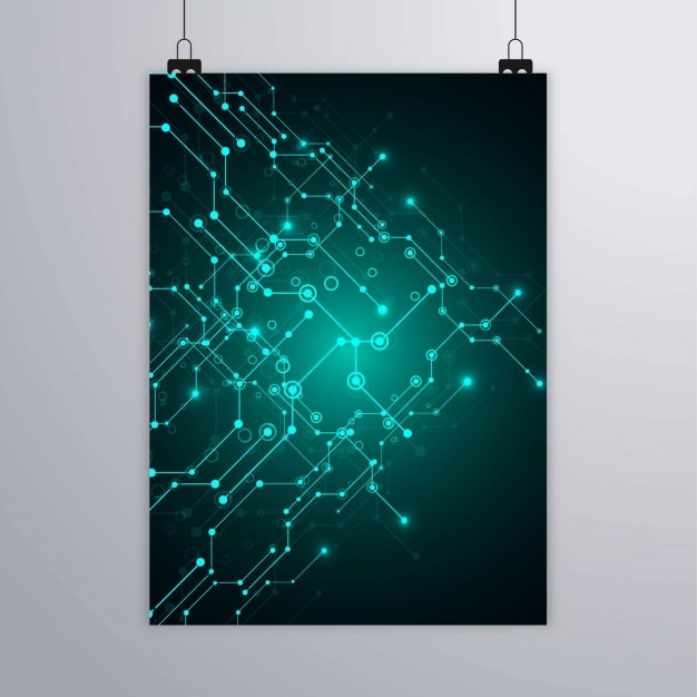technology brochure vector free download