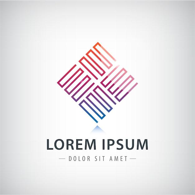 テクノロジービジネスの抽象的なロゴデザインテンプレート。インフィニティ。六角形。ファッションジュエリー高級コンセプト幾何学的なループ。 Premiumベクター