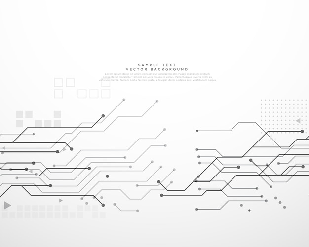 technology circuit board background with dynamic lines vector