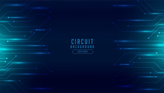 Technology circuit diagram digital futuristic background Free Vector
