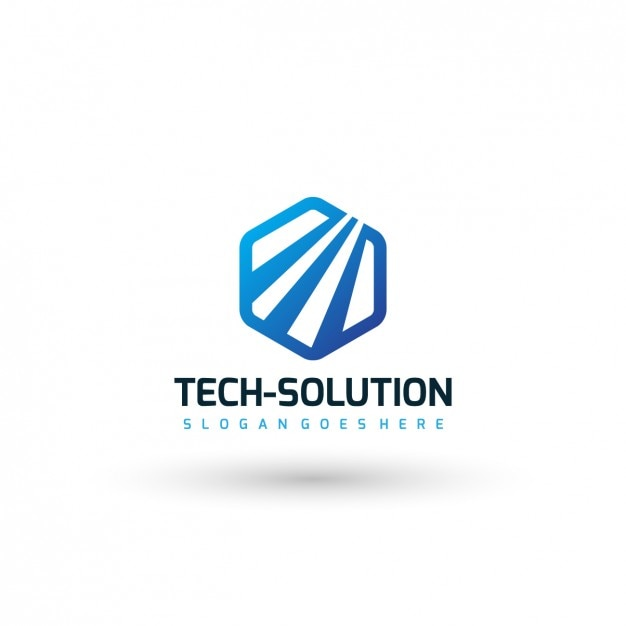 technology company logo template vector free download