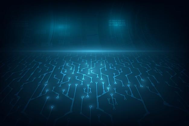 Technology concept background sci fi design. Premium Vector