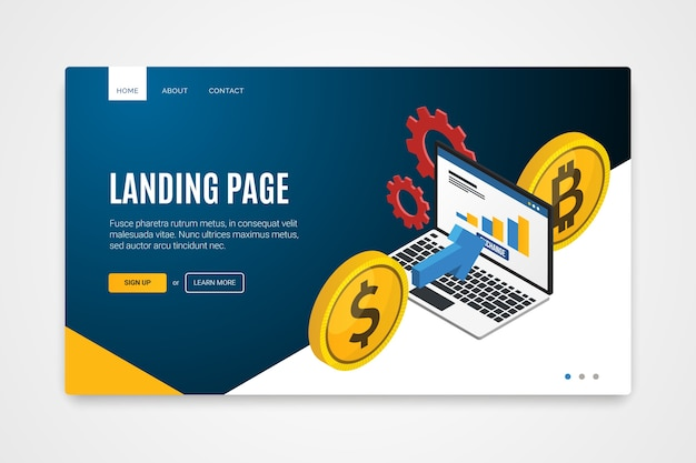 Technology concept landing page Free Vector