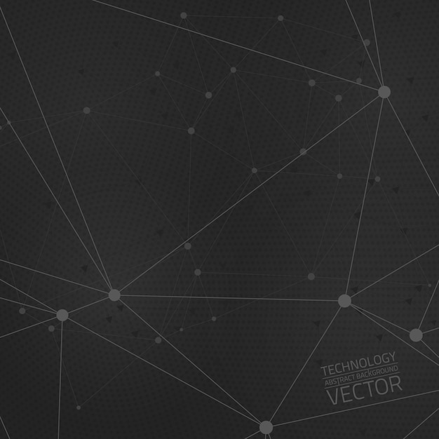 Technology connection abstract vector background Premium Vector