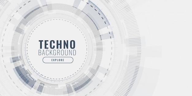 Technology data visualization concept futuristic banner Free Vector