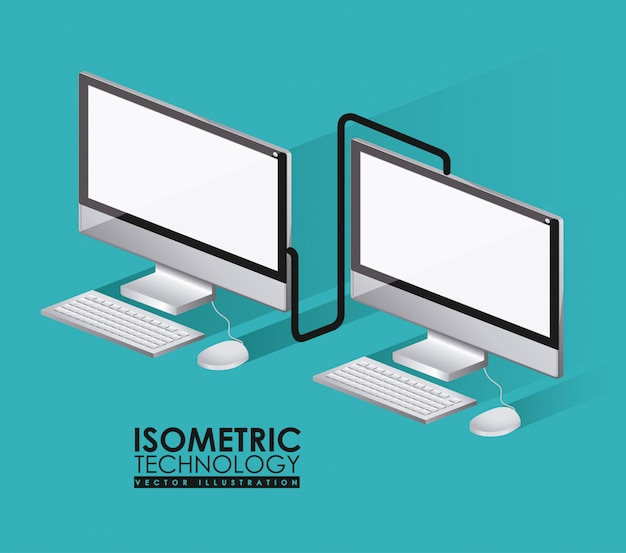 Technology design, vector illustration. Premium Vector