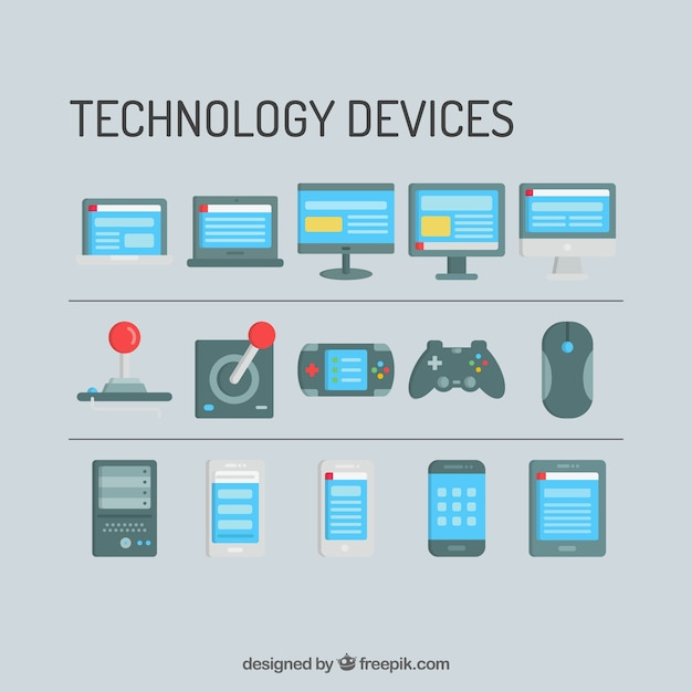 technology devices and consoles templates free vector