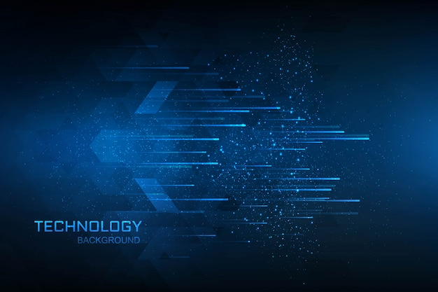 Technology digital concept blue background Free Vector