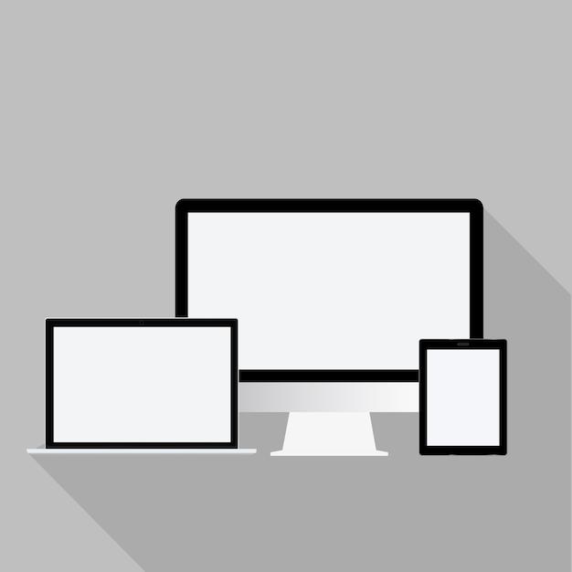 Technology digital device icon vector concept Free Vector