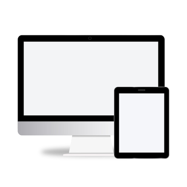 Technology digital device icon vector concept Free Vector