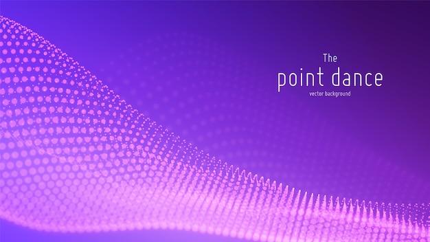 テクノロジーのデジタルスプラッシュまたはデータポイントの背景の爆発。ポイントダンス波形。サイバーui、hud要素。 無料ベクター