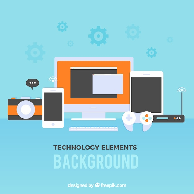 Technology elements background