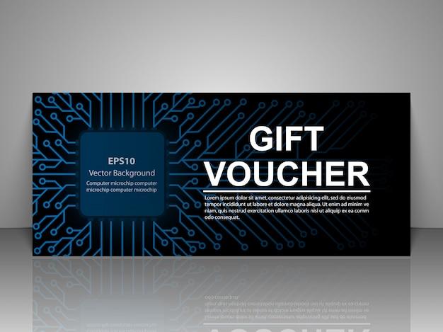 Technology Event Invitation Card Template Vector Premium