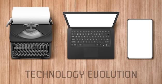 Technology evolution Free Vector