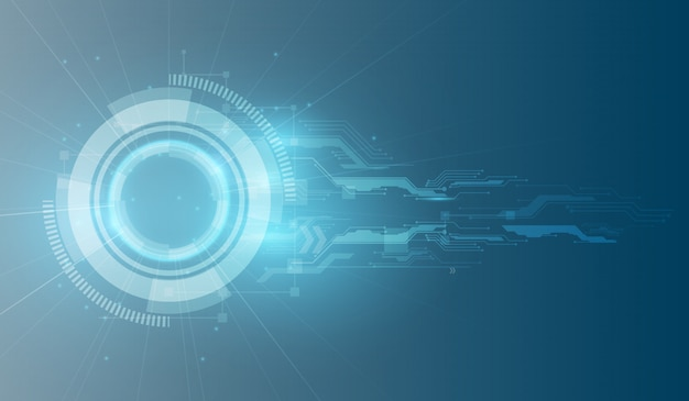 Technology futuristic digital background Premium Vector