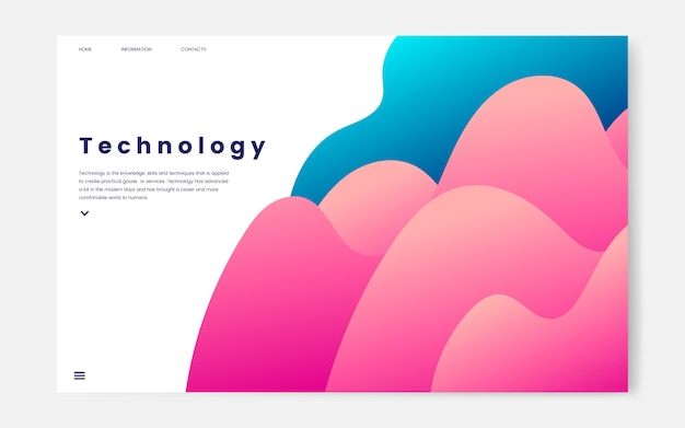 Technology and it informational website graphic Free Vector